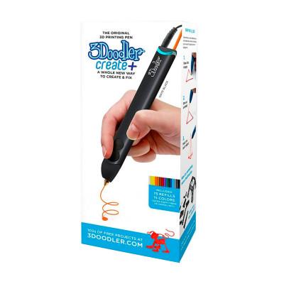 3D-ручка 3Doodler Create PLUS  для проф. использования - ЧЕРНАЯ (75 cтержней, аксессуары)