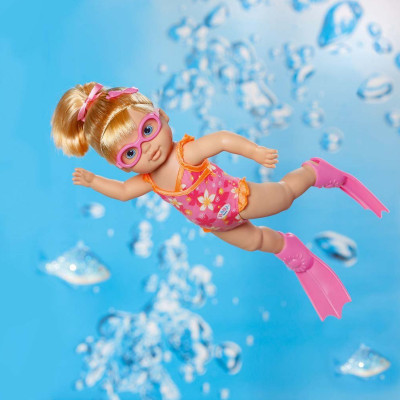 Интерактивная кукла MY LITTLE BABY BORN - УЧИМСЯ ПЛАВАТЬ (32 см, с аксессуарами, плавает в воде)