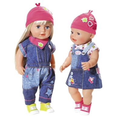 Набор одежды для куклы BABY BORN - МОДНЫЙ ДЖИНС  (2 в ассорт.)