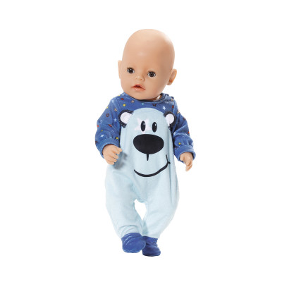 Одежда для куклы BABY BORN - СТИЛЬНЫЙ КОМБИНЕЗОН (голубой)