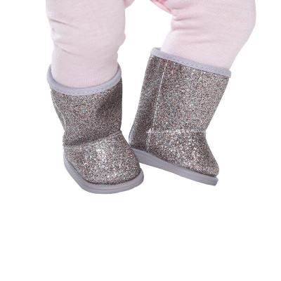 Обувь для куклы BABY BORN - СЕРЕБРИСТЫЕ САПОЖКИ