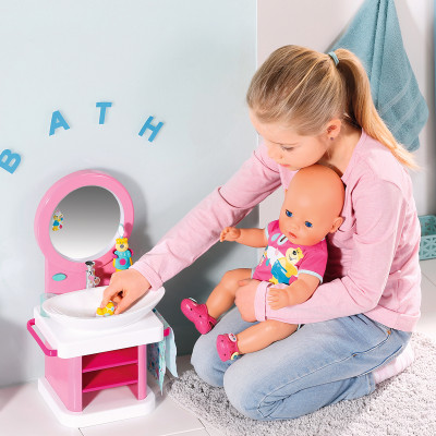 Интерактивный умывальник для куклы BABY BORN - ВОДНЫЕ ЗАБАВЫ (свет, звук)