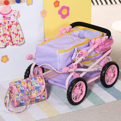 Коляска для куклы BABY BORN - ДЕЛЮКС S2 (складная, с сумкой)