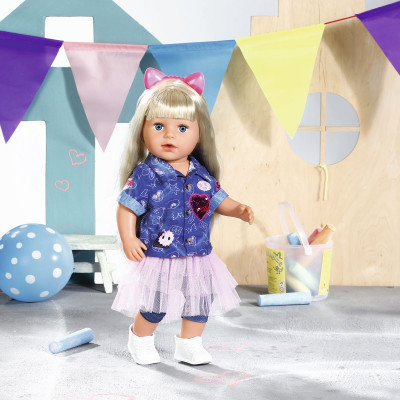 Набор одежды для куклы BABY BORN - ДЖИНС ДЕЛЮКС