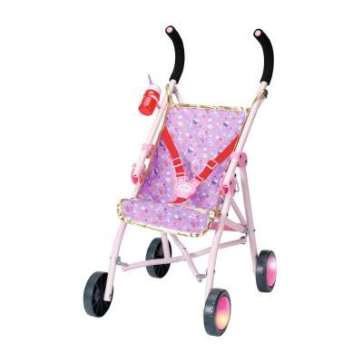 """Коляска для куклы BABY BORN серии """"День Рождения"""" - ЯРКИЕ ОГОНЬКИ (складная, светящиеся колеса)"""