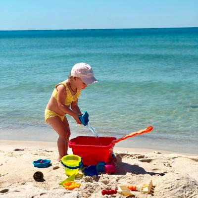 Набор для игры с песком и водой - ТЕЛЕЖКА МАНГО (11 предметов)