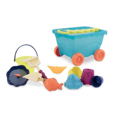 Набор для игры с песком и водой - ТЕЛЕЖКА МОРЕ (11 предметов)