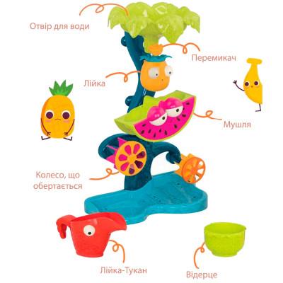 Набор для игры с песком и водой - ТРОПИЧЕСКИЙ ВОДОПАД (мельница для игры в ванне, в бассейне, на пляже)
