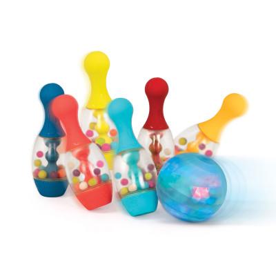 Игровой набор - СВЕРКАЮЩИЙ БОУЛИНГ (6 кеглей, шар, подставка)