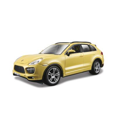 Автомодель - PORSCHE CAYENNE TURBO (ассорти белый, желтый, 1:24)