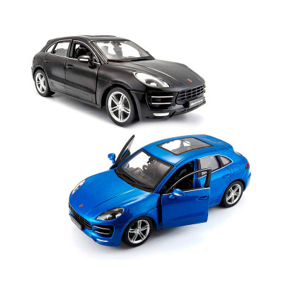 Автомодель - PORSCHE MACAN (черный, синий 1:24)