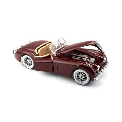 Автомодель - JAGUAR XK 120 (1951) (ассорти вишневый, серебристый, темно-зеленый, 1:24)