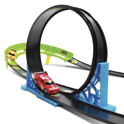 Игровой набор серии GoGears «Крутой вираж» (трек с одной дорожкой, 1 машинка c инерц. механизмом)