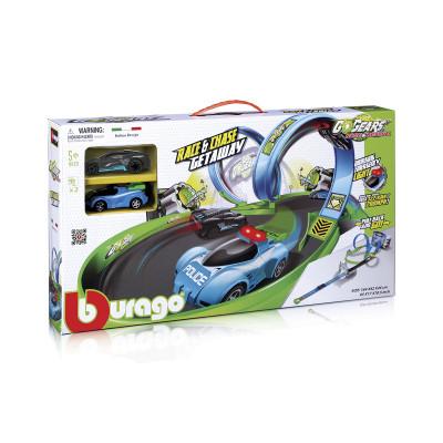Игровой набор серии GoGears - ПОЛИЦЕЙСКАЯ ПОГОНЯ (трек с 1 дорожкой,2 петли,2 машинки с инерц.мех.)