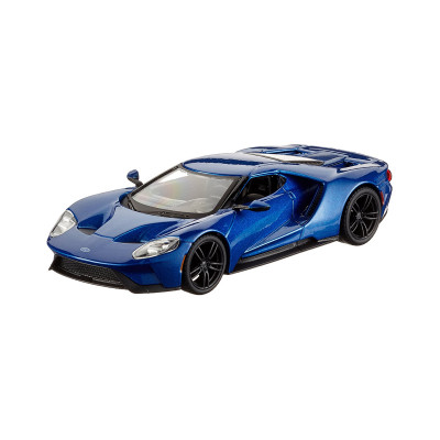 Автомодель - FORD GT (голубой металлик, серебристый металлик, 1:32)