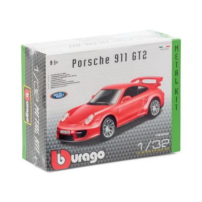 Авто-конструктор - PORSCHE 911 GT2 (голубой, красный, 1:32)