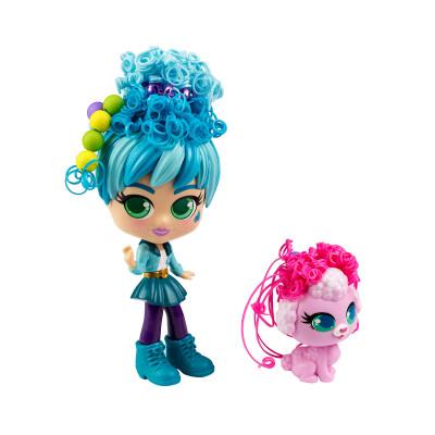 Игровой набор с куклой и питомцем CURLIGIRLS - ПУТЕШЕСТВЕННИЦА АДЭЛИ И ФИДЖИ
