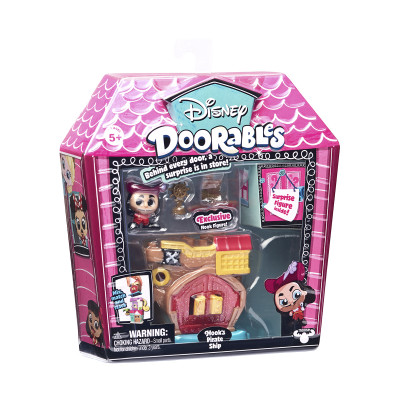 Игровой набор DISNEY DOORABLES - ПИТЕР ПЭН (2 героя, домик, аксессуар)