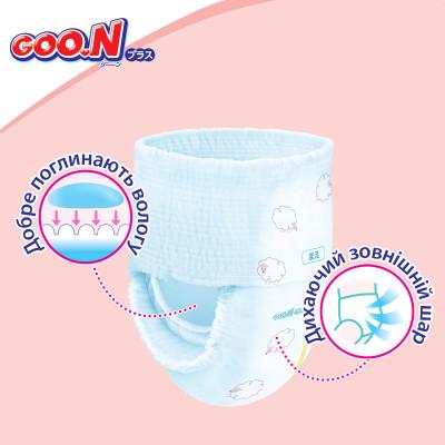 Трусики-подгузники GOO.N Plus для детей 6-12 кг (размер M, унисекс, 58 шт)