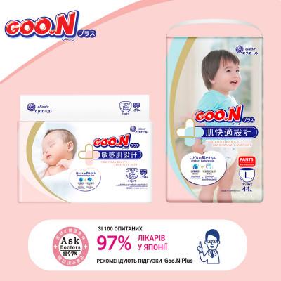 Трусики-подгузники GOO.N Plus для детей 13-25 кг (размер BigBig (XXL), унисекс, 28 шт)