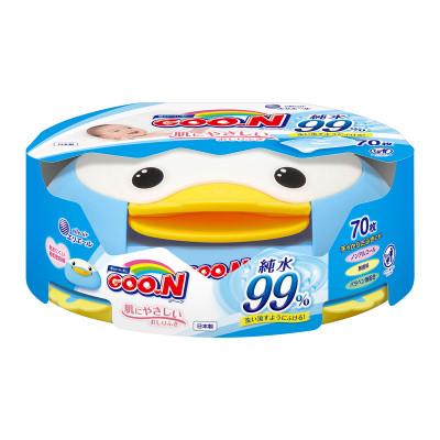 Влажные салфетки GOO.N для чувств.кожи (пласт.бокс-пингвин с секр.замком, смен. блок 70 шт)