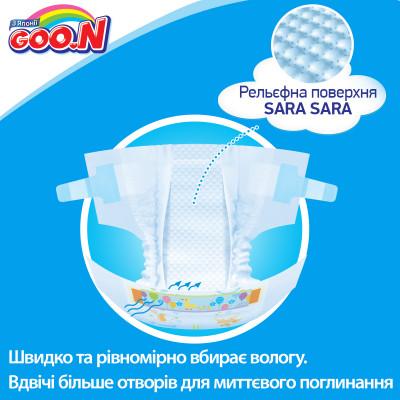 Подгузники GOO.N для маловесных новорожденных до 1 кг (р. SSSSS, плоские, унисекс, 30 шт)