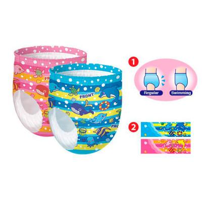 Трусики-подгузники для плавания GOO.N для девочек 9-14 кг, ростом 70-90 см (размер L, 12 шт)