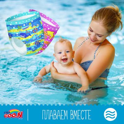 Трусики-подгузники для плавания GOO.N для мальчиков 12-20 кг, ростом 80-100 см(размер Big (XL),12 шт