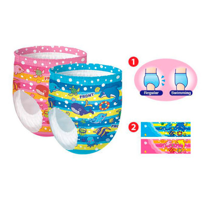 Трусики-подгузники для плавания GOO.N для девочек 12-20 кг, ростом 80-100 см (размер Big (XL), 12 шт
