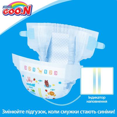 Подгузники GOO.N для детей 6-11 кг (размер M, на липучках, унисекс, 64 шт)