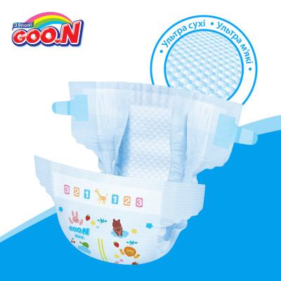 Подгузники GOO.N для детей 12-20 кг (размер Big (XL), на липучках, унисекс, 42 шт)