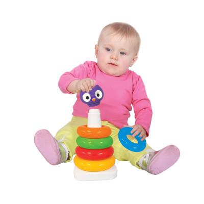 Развивающая игрушка - ПИРАМИДКА СОВА