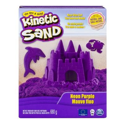 Песок для детского творчества - KINETIC SAND COLOR (фиолетовый, 680 г)