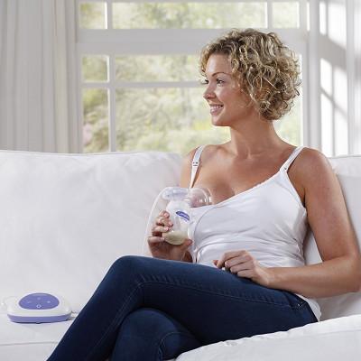Электр. молокоотсос (накладка Comfort Fit™, 2-хфазный, 6 ур. вакуума, 1 бут. 160 мл, зап. части, соска Natural Wave)