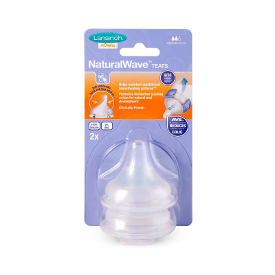 Соска для естественного кормления Natural Wave (M, средний поток, 2 шт.)