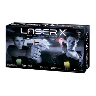 Игровой набор для лазерных боев - LASER X ДЛЯ ДВУХ ИГРОКОВ (2 бластера, 2 мишени)