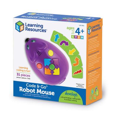 Игровой STEM-набор LEARNING RESOURCES – МЫШКА (программируемая игрушка, карточки)