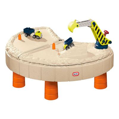 Песочница-стол - ВЕСЕЛАЯ СТРОЙКА (для песка и воды, с аксессуарами)