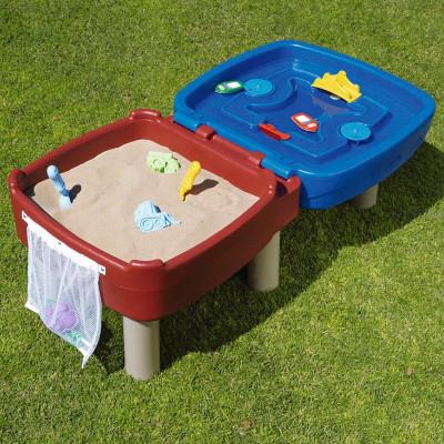Песочница-стол 2 в 1 - ИГРАЕМ И РИСУЕМ (для песка и воды, с аксессуарами)