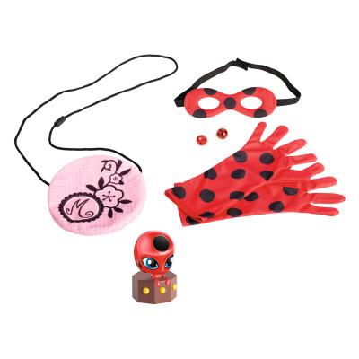 Игровой набор аксессуаров для перевоплощения «ЛЕДИ БАГ И СУПЕР-КОТ» - Я-ЛЕДИ БАГ (маска,перчат,сумоч,сереж,светящ.фигур.Тикки)