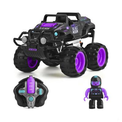 Автомобиль CRASH CAR на р/у - ЧЕРНАЯ ВДОВА (фиолетово-черный, аккум. 4.8V)