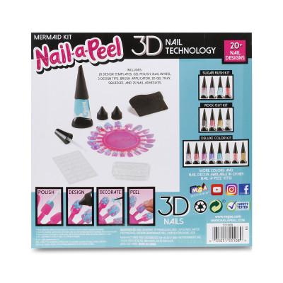 Игровой набор для юного нейл-арт мастера - РУСАЛКА (1 тюбик геля, палитра для моделирования, аксессуары)