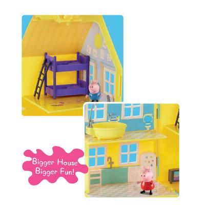 Игровой набор Peppa - ЗАГОРОДНЫЙ ДОМ ПЕППЫ (домик с мебелью, 2 фигурки)