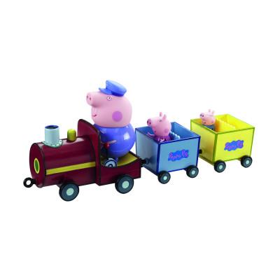 Игровой набор Peppa - ПАРОВОЗИК ДЕДУШКИ ПЕППЫ (паровозик, 3 фигурки)