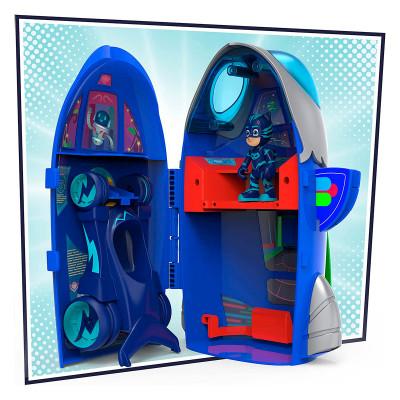 Игровой набор ГЕРОИ В МАСКАХ - ШТАБ-РАКЕТА 2-в-1 (фигурка, машинка)