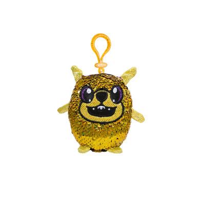 Мягкая игрушка с пайетками SHIMMEEZ S2 – ЭНЕРГИЧНЫЙ МОПС (9 см, на клипсе)
