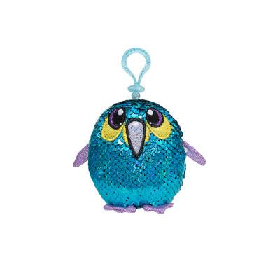 Мягкая игрушка с пайетками SHIMMEEZ S2 – БОДРЫЙ ПИНГВИН (9 см, на клипсе)