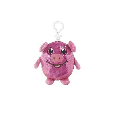 Мягкая игрушка с пайетками SHIMMEEZ – ЗАБАВНАЯ СВИНКА (9 см, на клипсе)