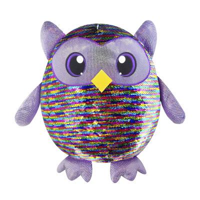 Мягкая игрушка с пайетками SHIMMEEZ – ЯРКАЯ СОВА (36 см)