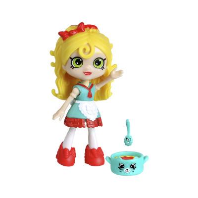 Кукла HAPPY PLACES S1 – СЬЮ СПАГЕТТИ (2 эксклюзивных петкинса, подставка)